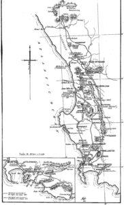 Map of Olof Bergh Journeys